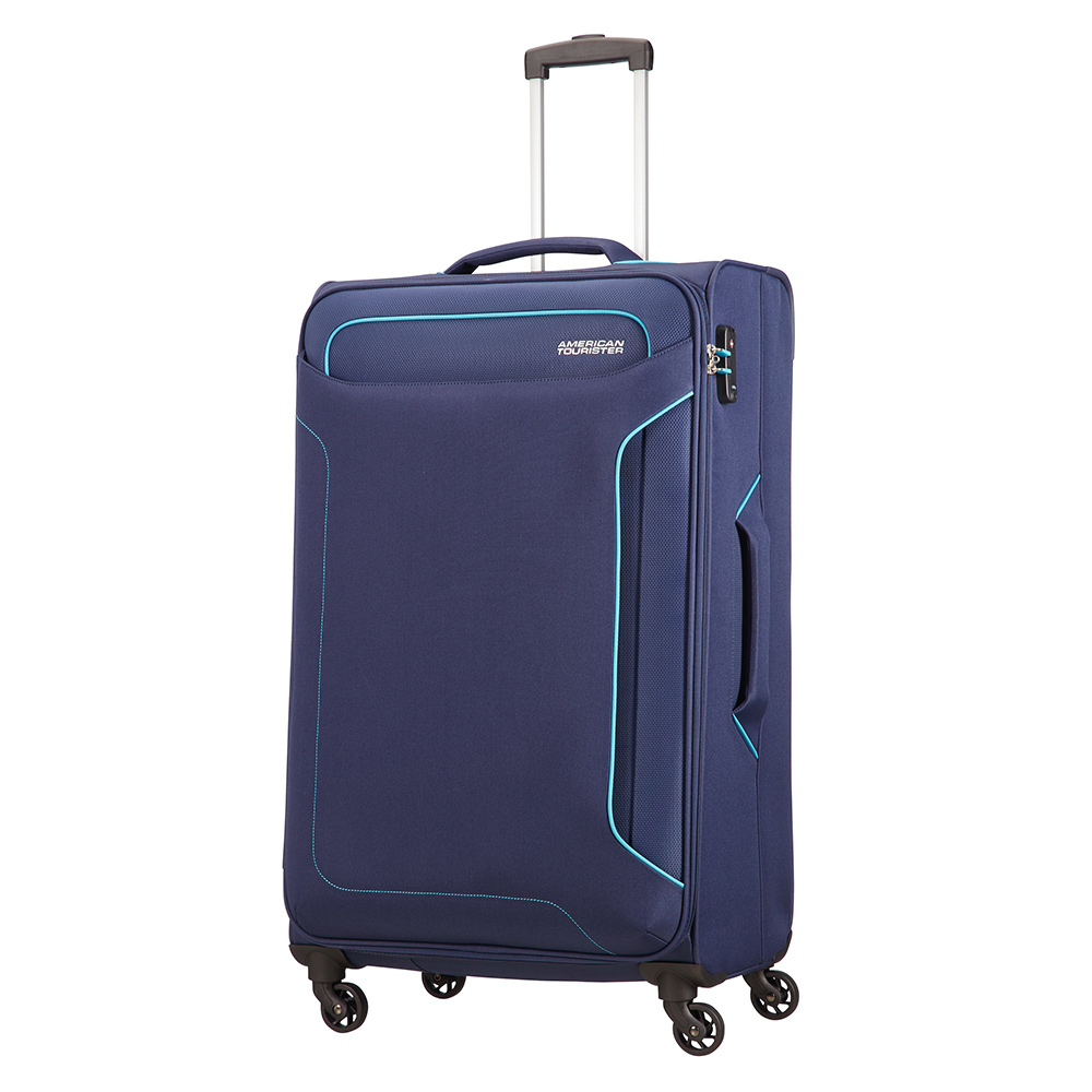 American Tourister Holiday Heat Spinner 79 Navy American Tourister Zachte Koffers