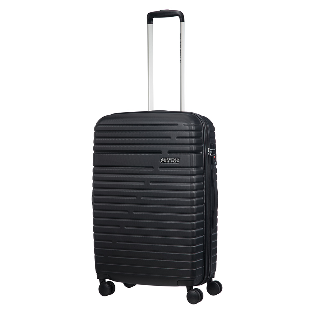 Afbeelding van American Tourister Aero Racer Spinner 68 Expandable Jet Black Harde Koffers