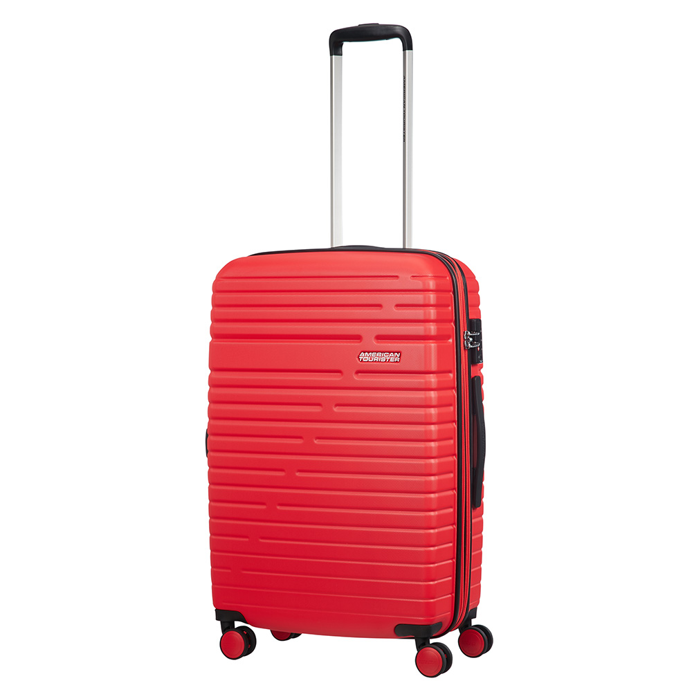 American Tourister Aero Racer Spinner 68 Expandable Poppy Red