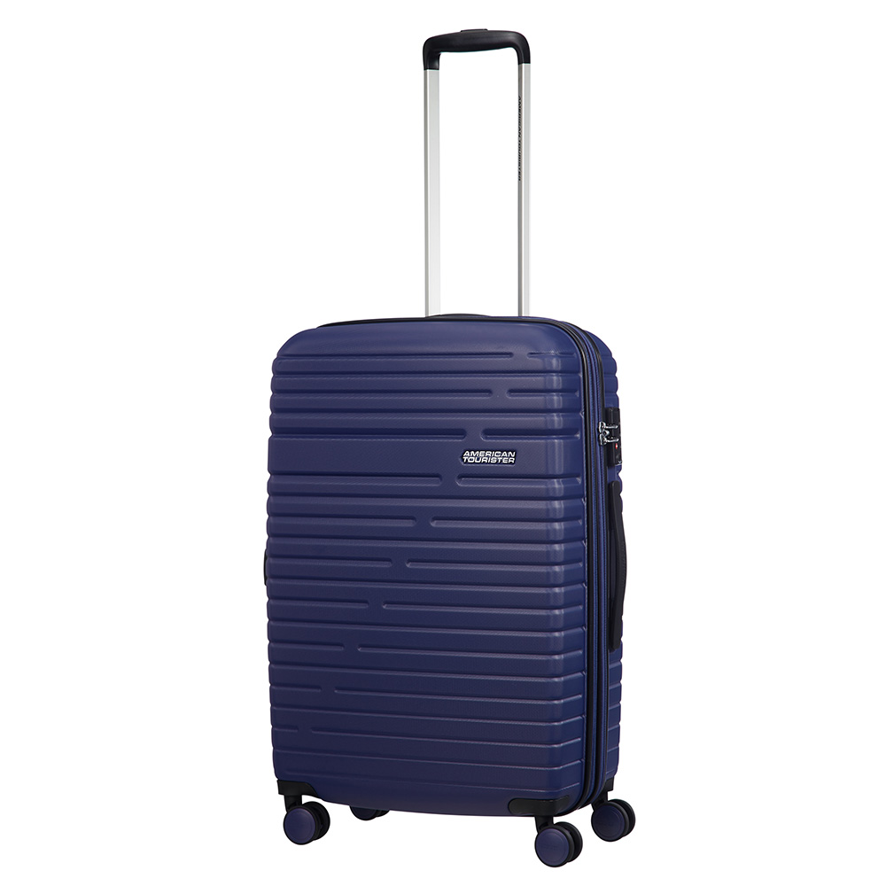 Afbeelding van American Tourister Aero Racer Spinner 68 Expandable Nocturne Blue Harde Koffers