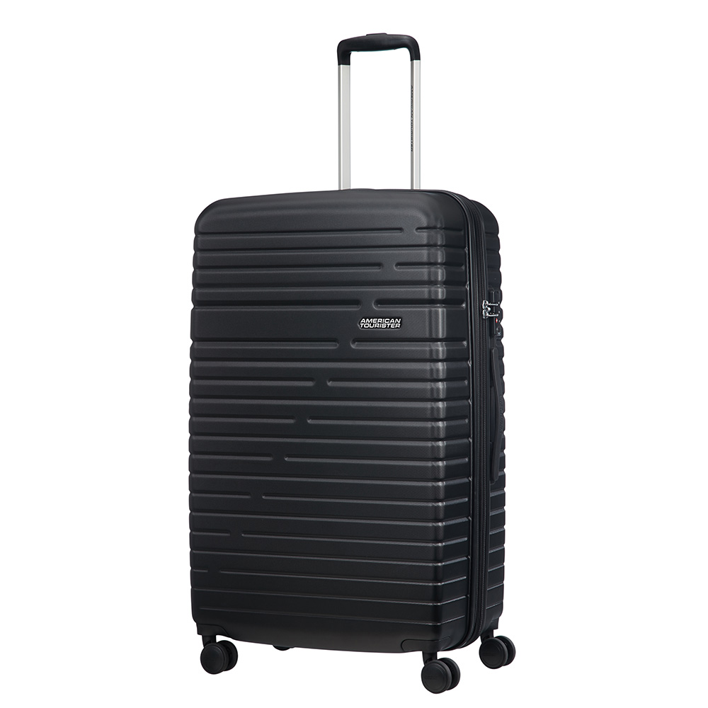 Afbeelding van American Tourister Aero Racer Spinner 79 Expandable Jet Black Harde Koffers