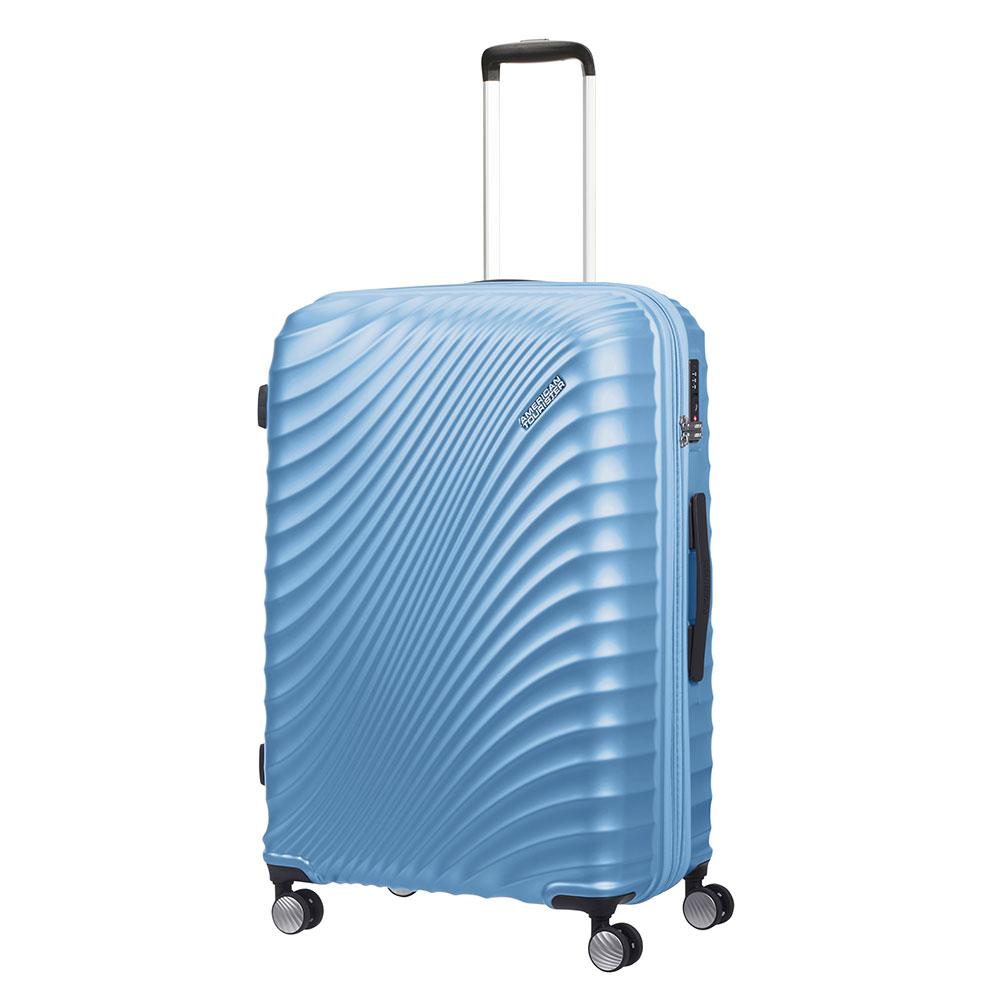 American Tourister Jetglam Spinner 77 Expandable Metallic Powder Blue