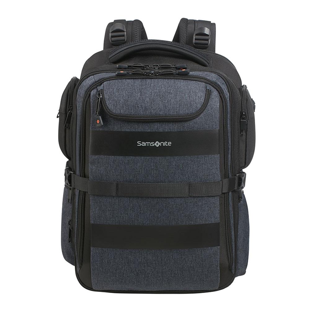 Samsonite Bleisure Backpack 15.6 Expandable Overnight Dark Blue