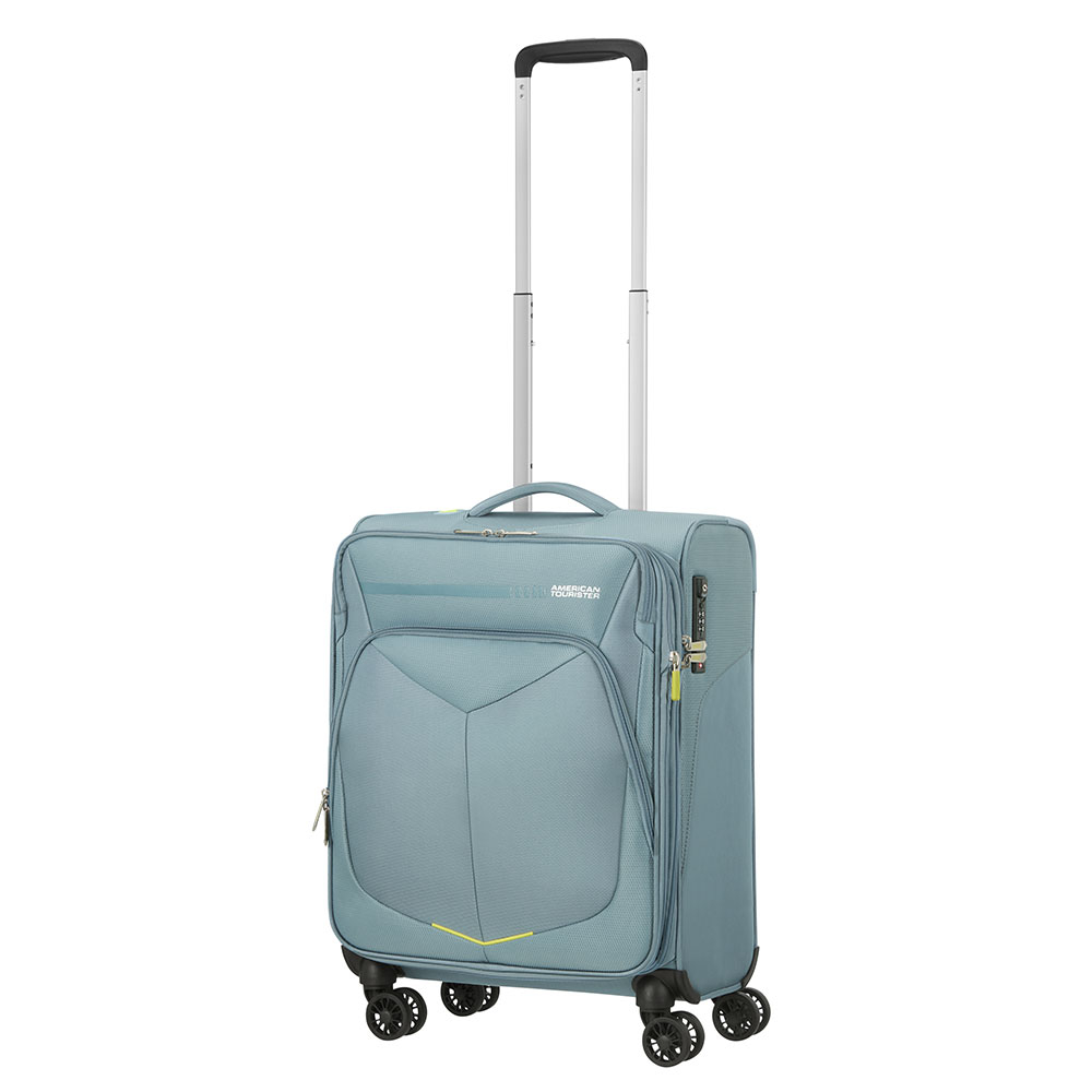 American Tourister Summerfunk Spinner 55 Expandable Metal Grey