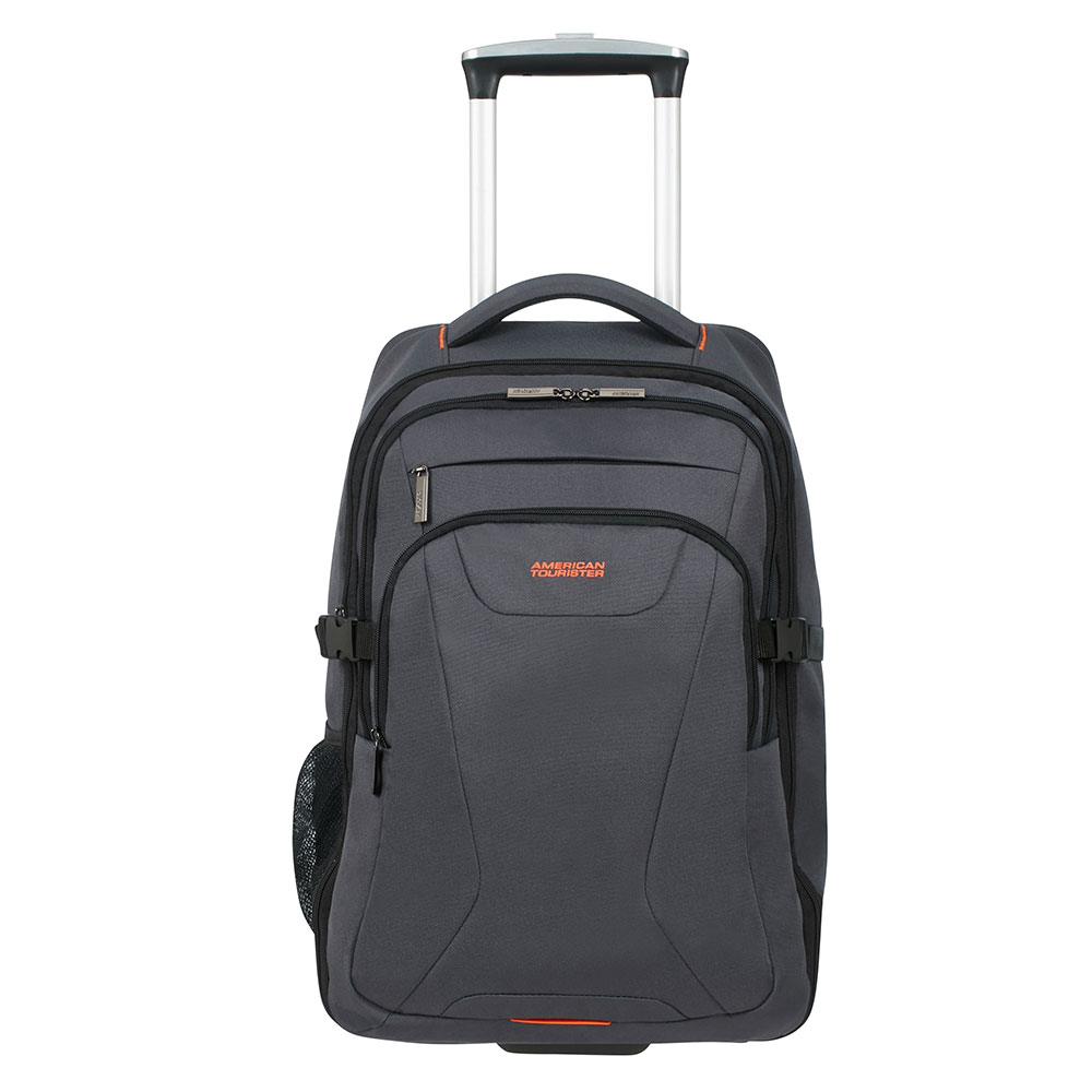 American Tourister AT Work Laptop Backpack Wheels 15.6'' Grey/Orange