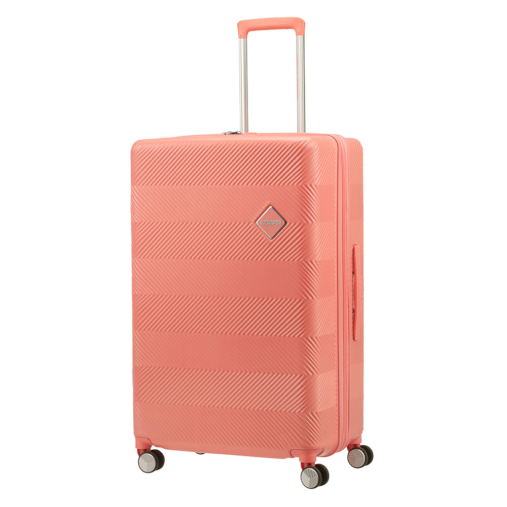 American Tourister Flylife Spinner 77 Exp Coral Pink