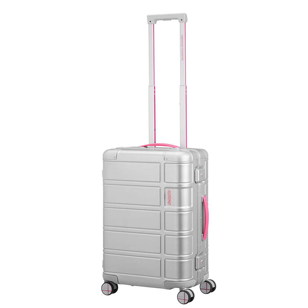 American Tourister Alumo Spinner 55 Neon Pink