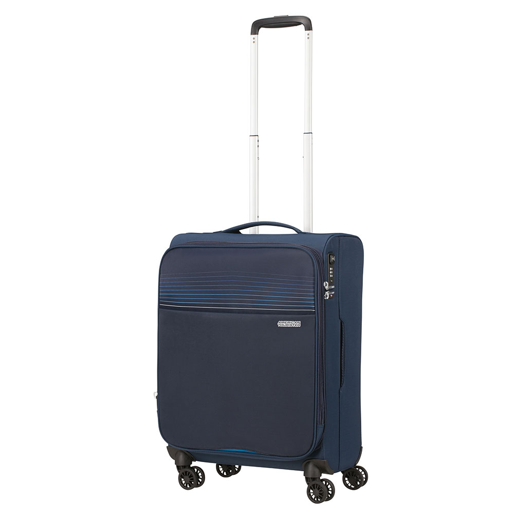 American Tourister Lite Ray Spinner 55 Expandable Midnight Navy