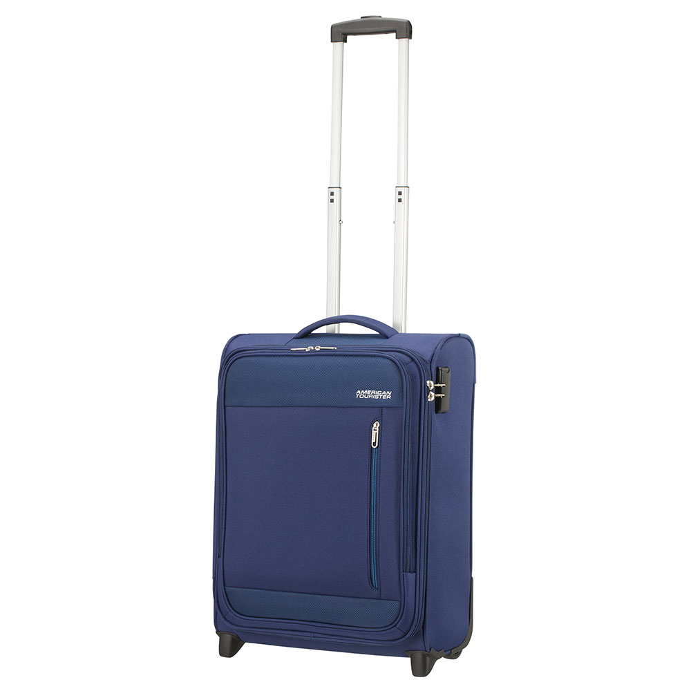 American Tourister Heat Wave Upright 55 Combat Navy