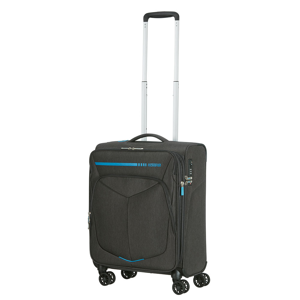 American Tourister Summerfunk Spinner 55 Expandable Neon Blue