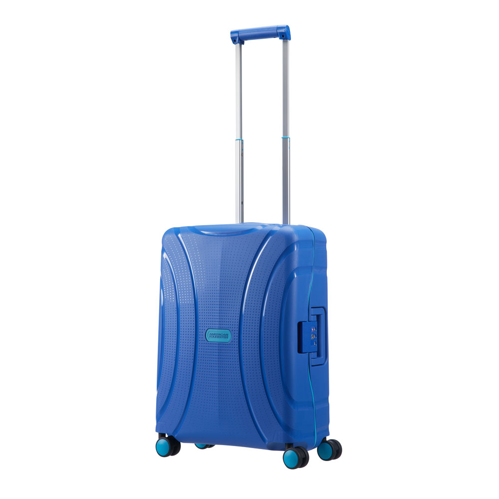 American Tourister Lock 'N' Roll Spinner 55 Skydiver Blue