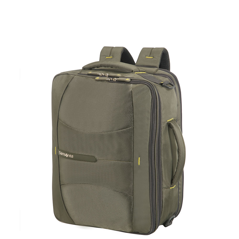 Samsonite 4Mation 3-Way Shoulder Bag Expandable Olive/Yellow