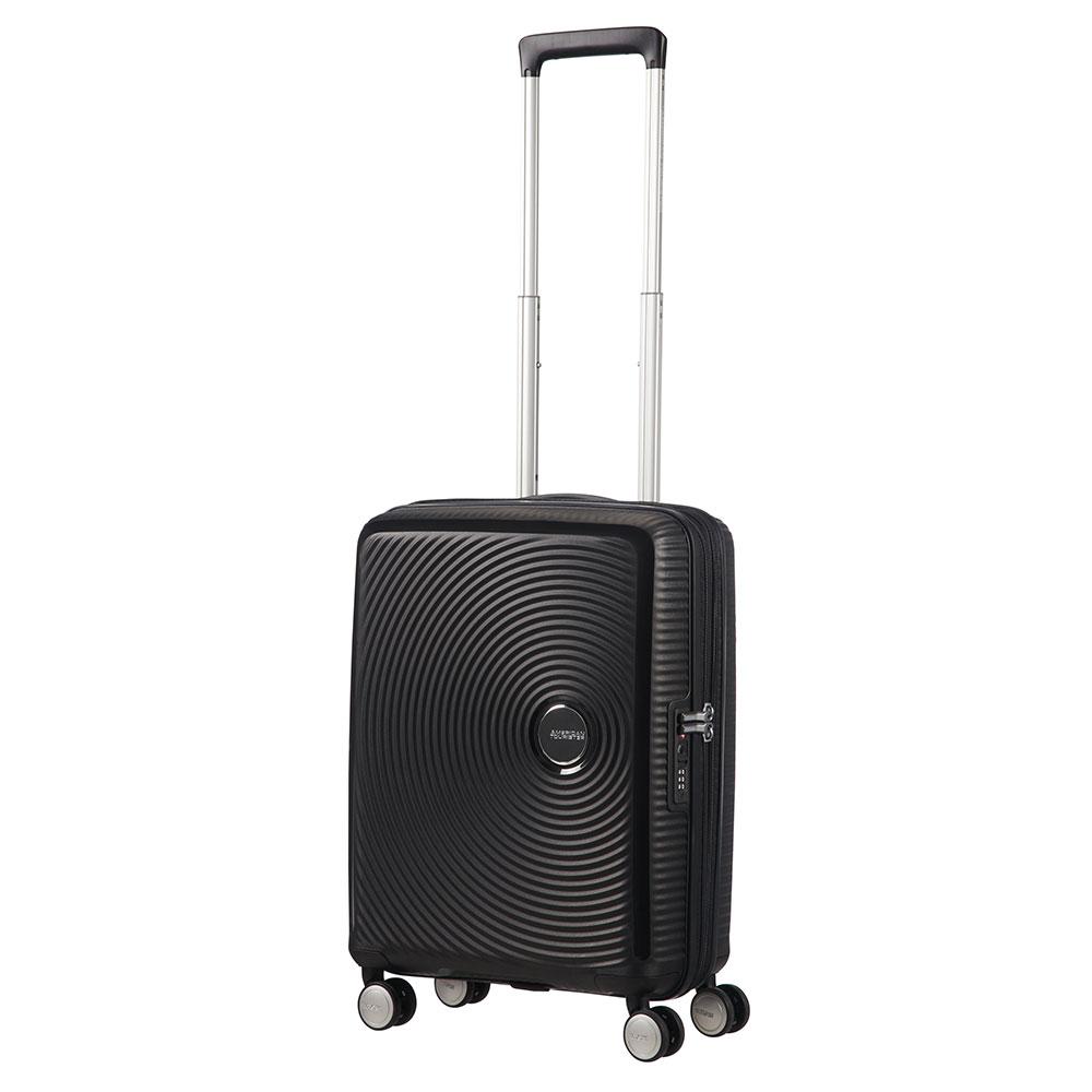 American Tourister Soundbox Spinner 55 Expandable Bass Black