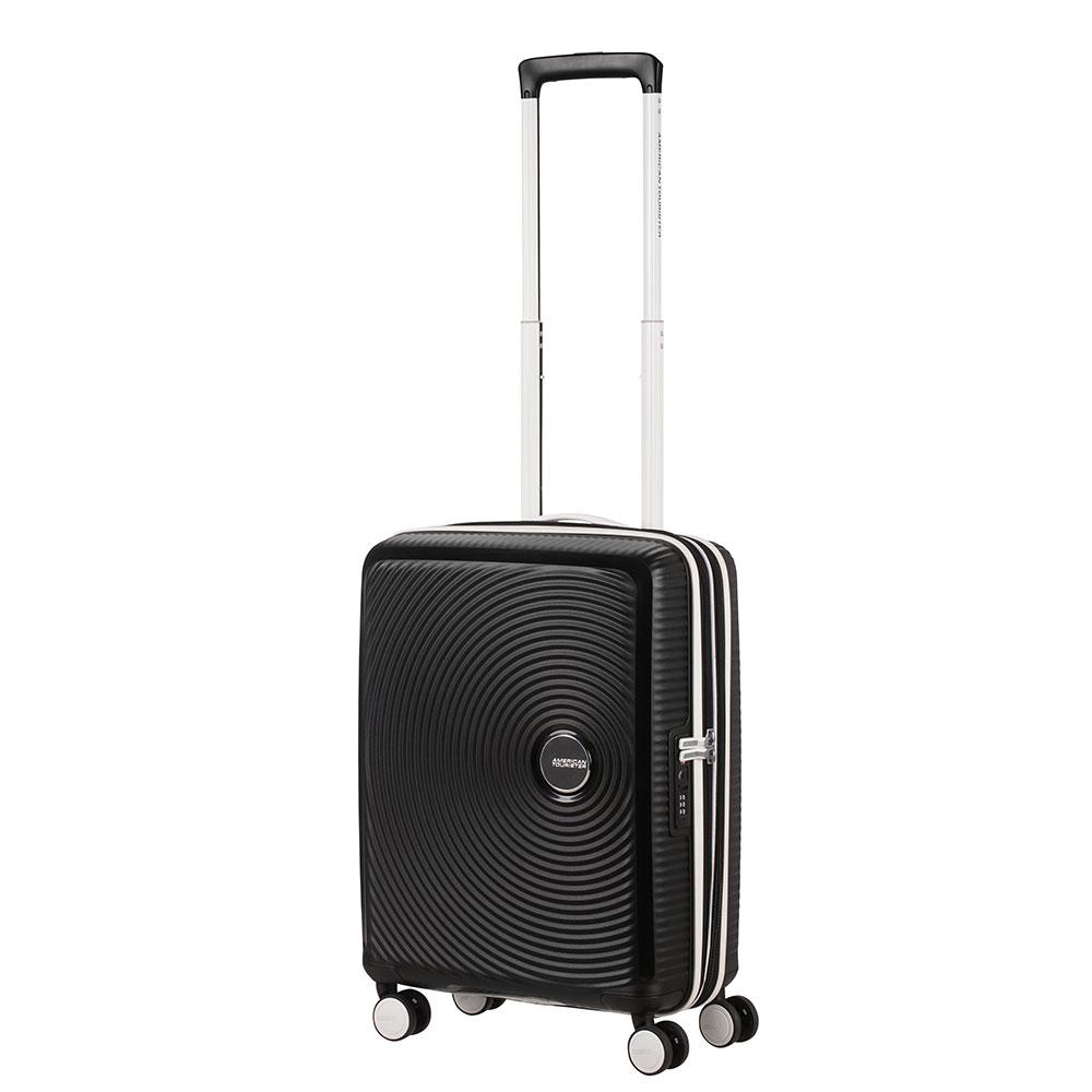 American Tourister Soundbox Spinner 55 Exp. Black/White