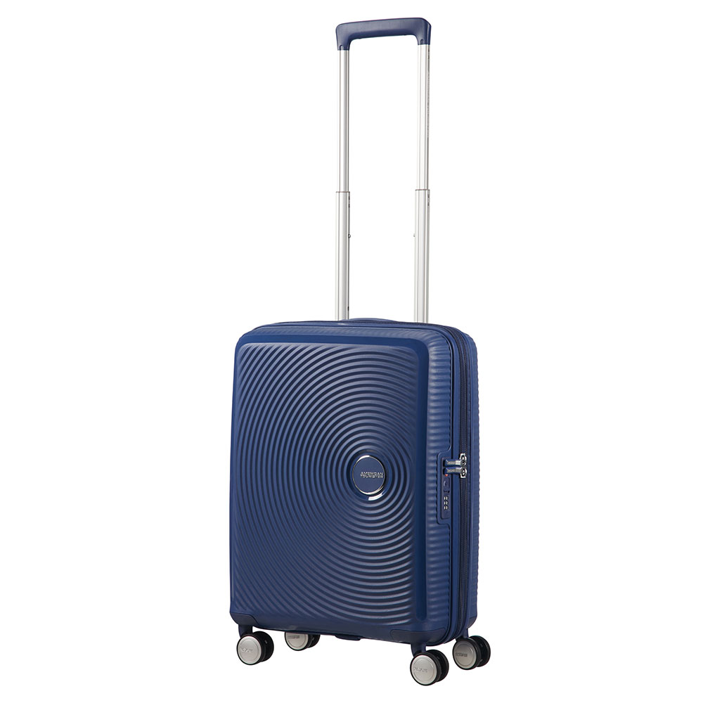 American Tourister Soundbox Spinner 55 Expandable Midnight Navy