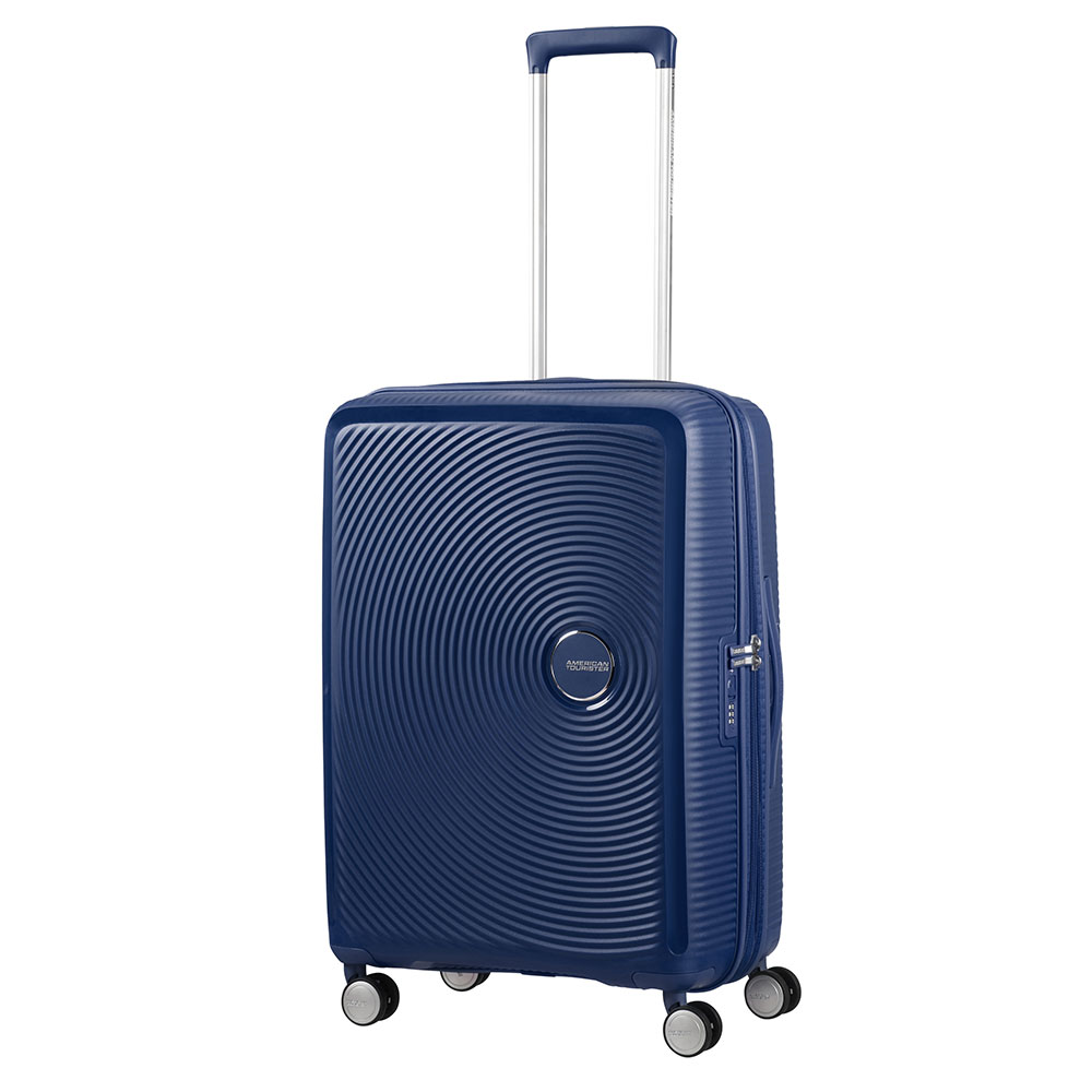 Afbeelding van American Tourister Soundbox Spinner 67 Exp. Midnight Navy Harde Koffers