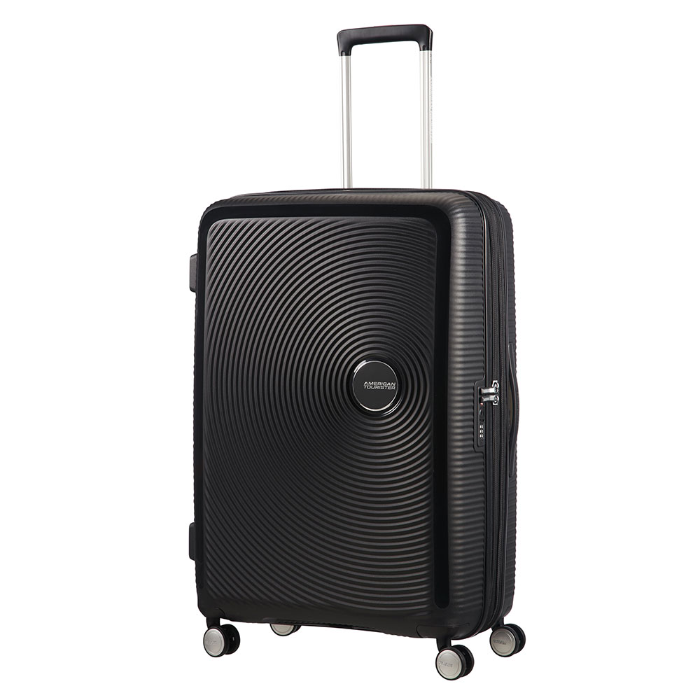 American Tourister Soundbox Spinner 77 Expandable Bass Black