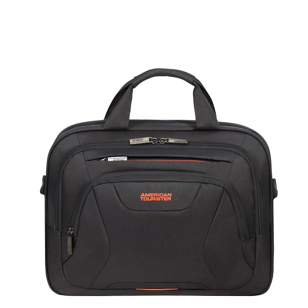 American Tourister AT Work Laptop Bag 13.3-14.1 Black/ Orange