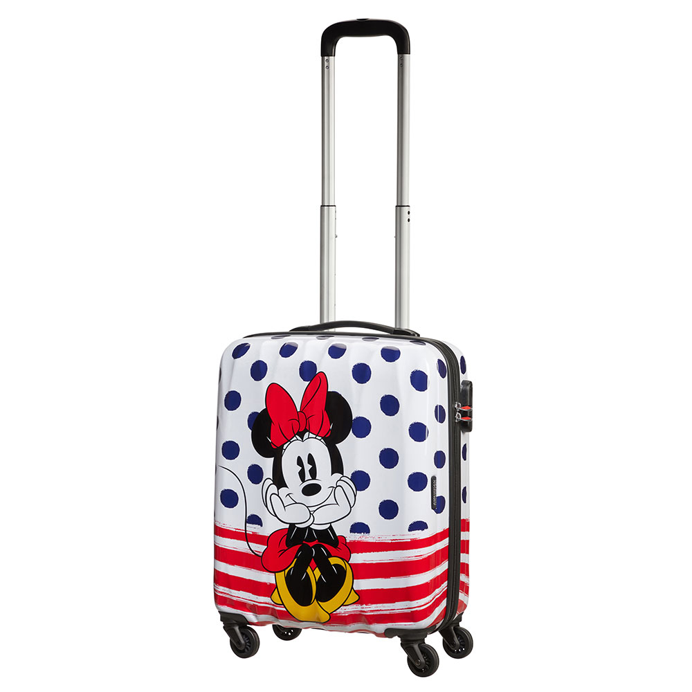 American Tourister Disney Legends Spinner 55 Minnie Blue Dots