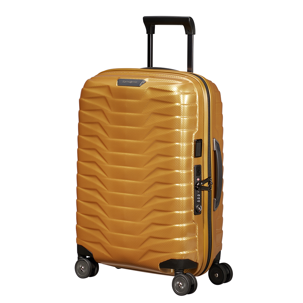 Samsonite Proxis Spinner 55 Expandable Honey Gold