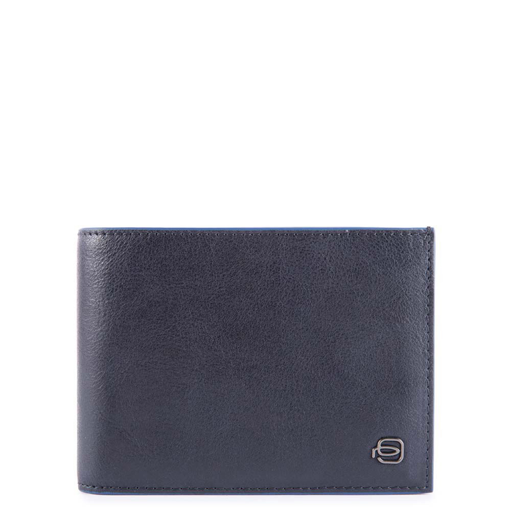 Piquadro Blue Square S Matte Men's Wallet With Coin Pocket Blue
