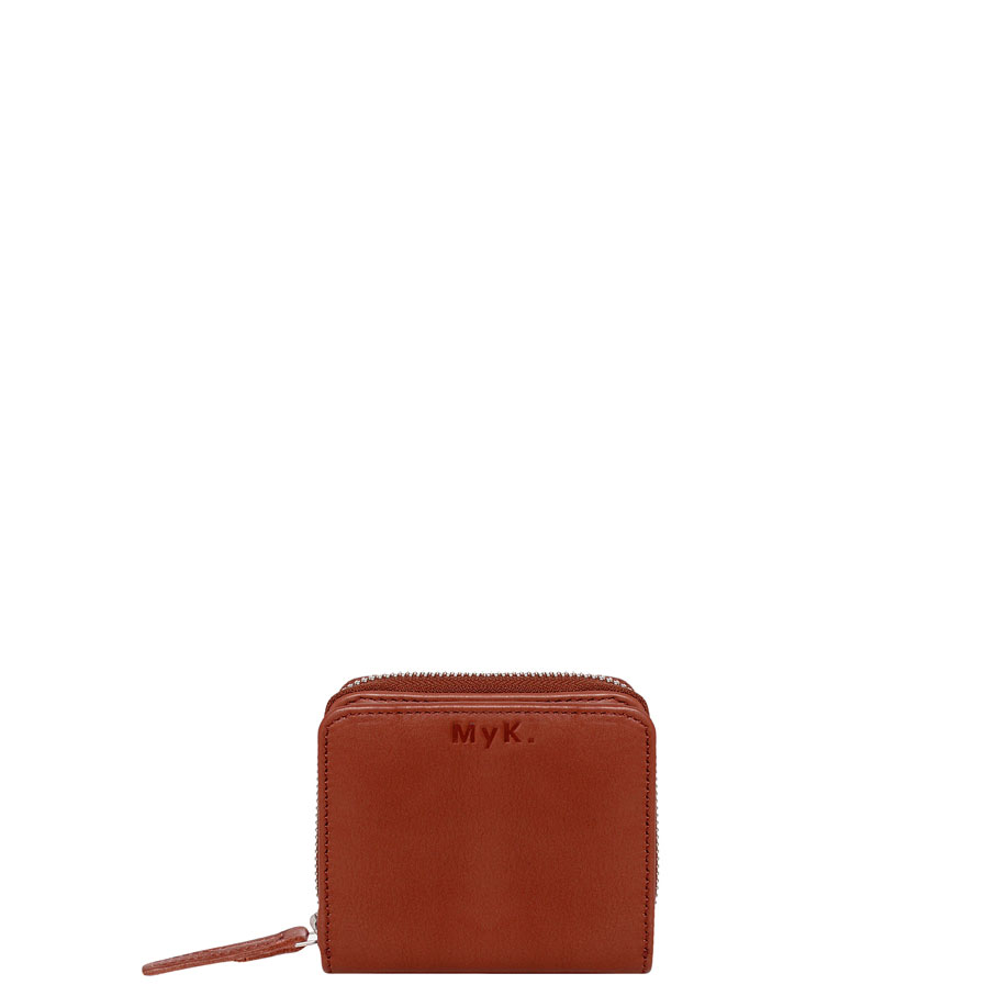 MyK Sparkle Purse Chestnut