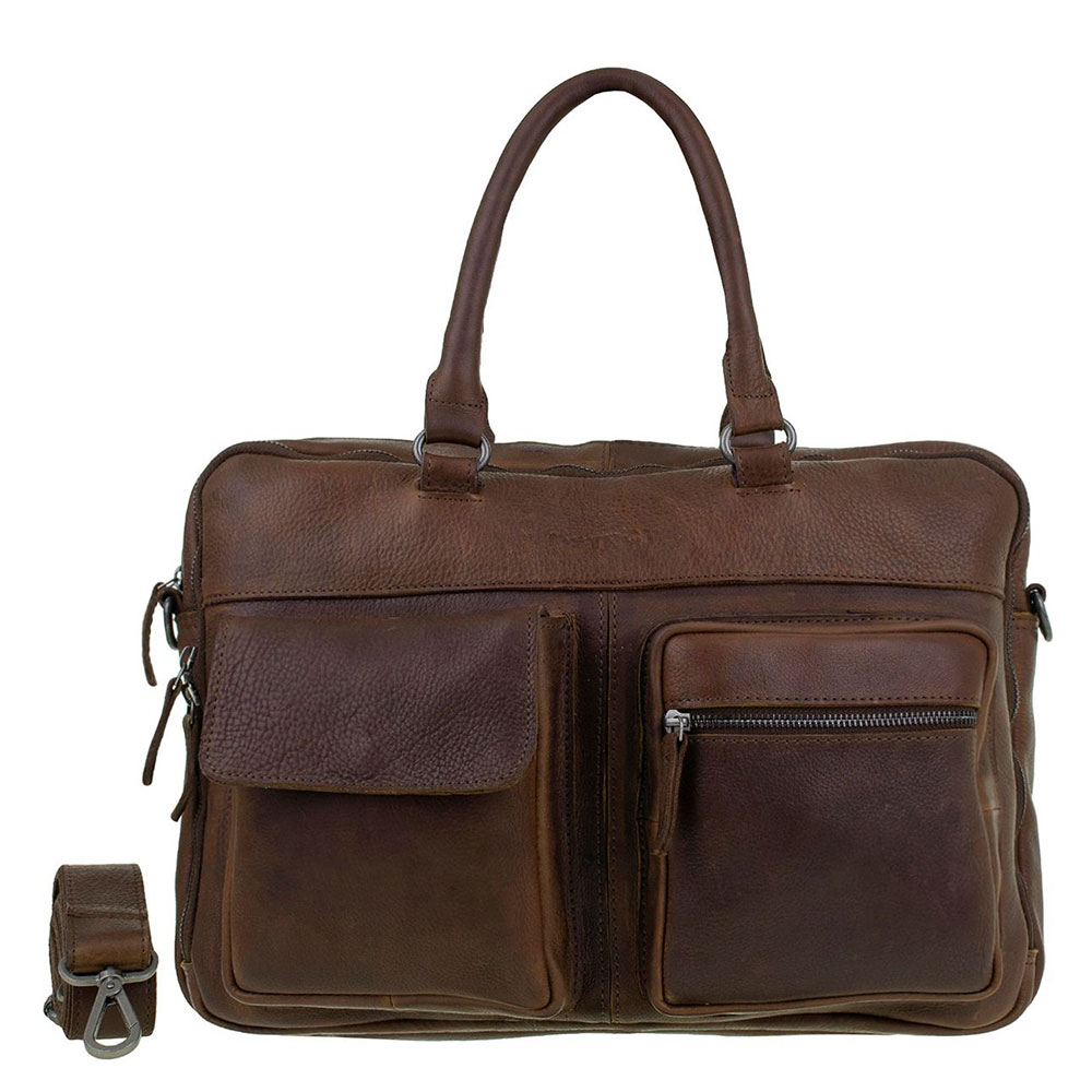 DSTRCT Raider Road Laptoptas 15.6 Cognac 360230