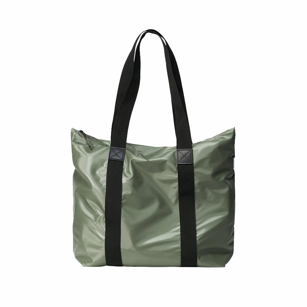 Rains Original Tote Bag Rush Schoudertas Shiny Olive