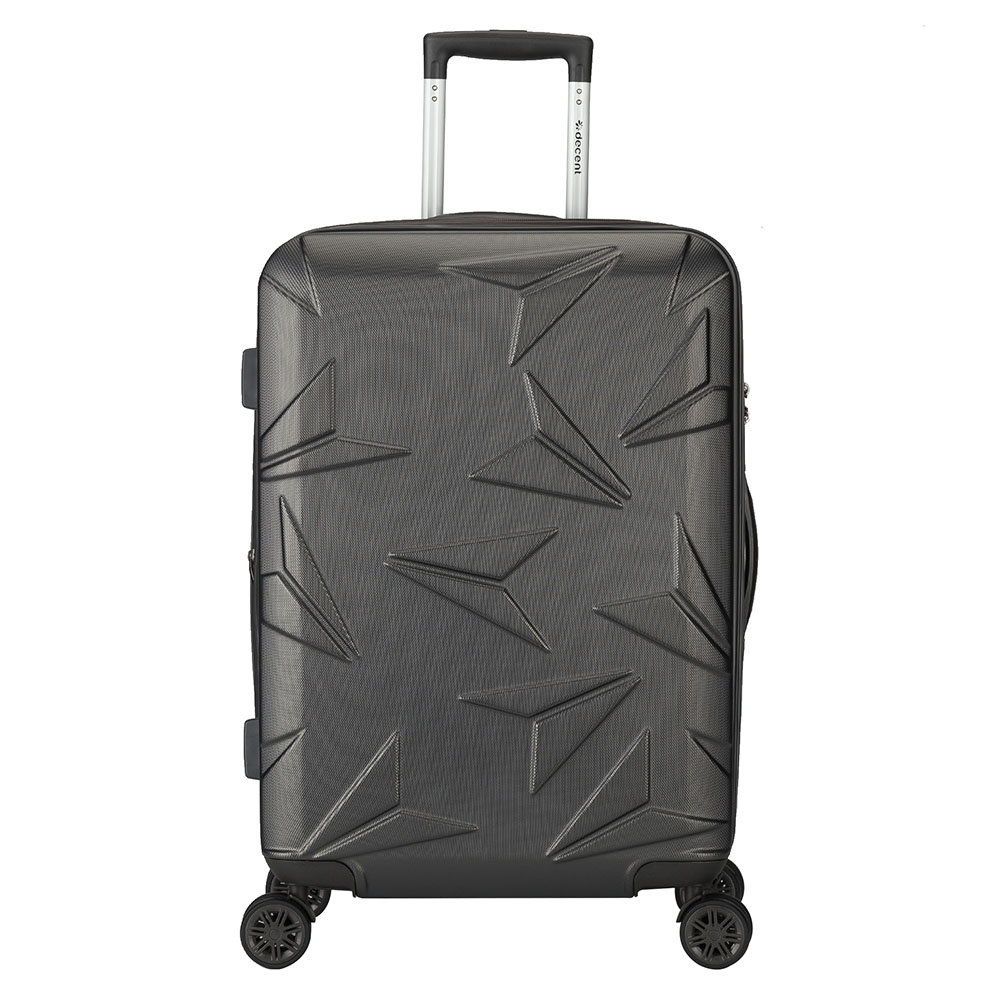 Decent Q Luxx Trolley 67 Expandable Anthracite Decent Harde Koffers