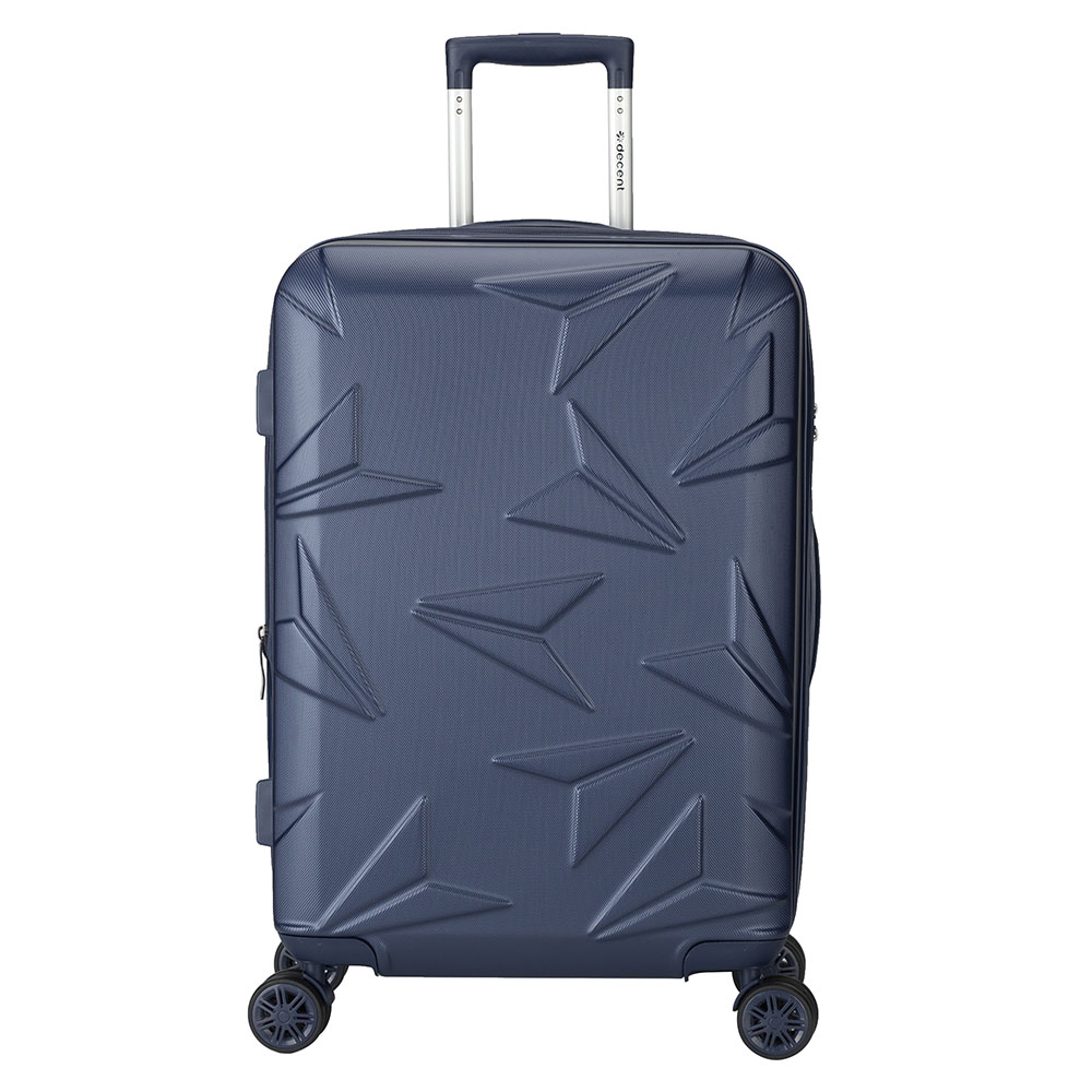 Harde Koffers Decent Decent Q Luxx Trolley 67 Expandable Dark Blue