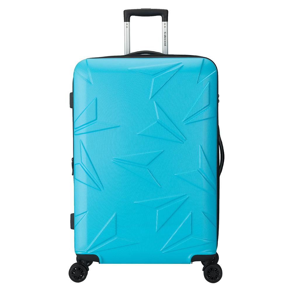 Decent Decent Q Luxx Trolley 77 Expandable Blue Harde Koffers