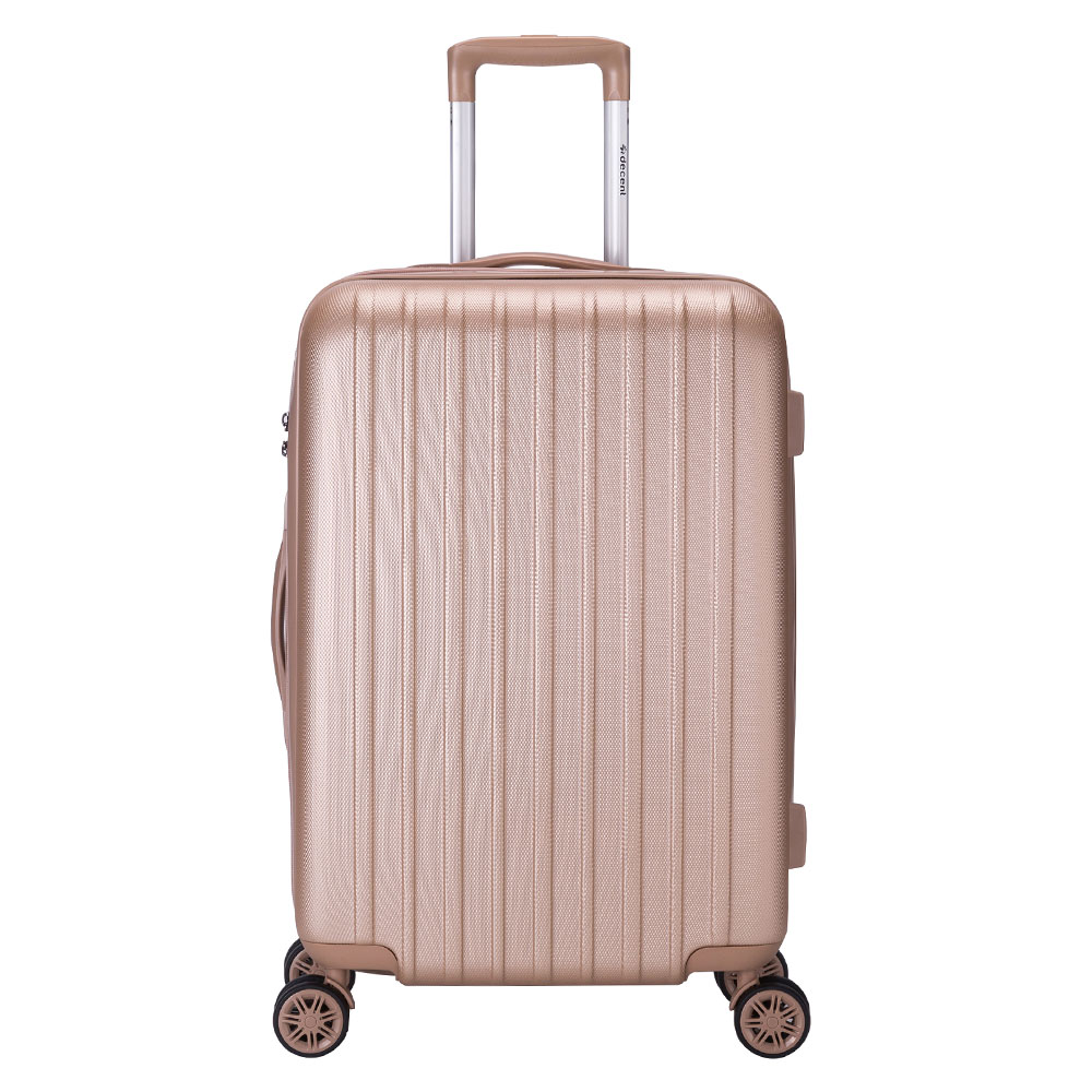 Decent Decent Tranporto One Trolley 66 Salmon Pink Harde Koffers
