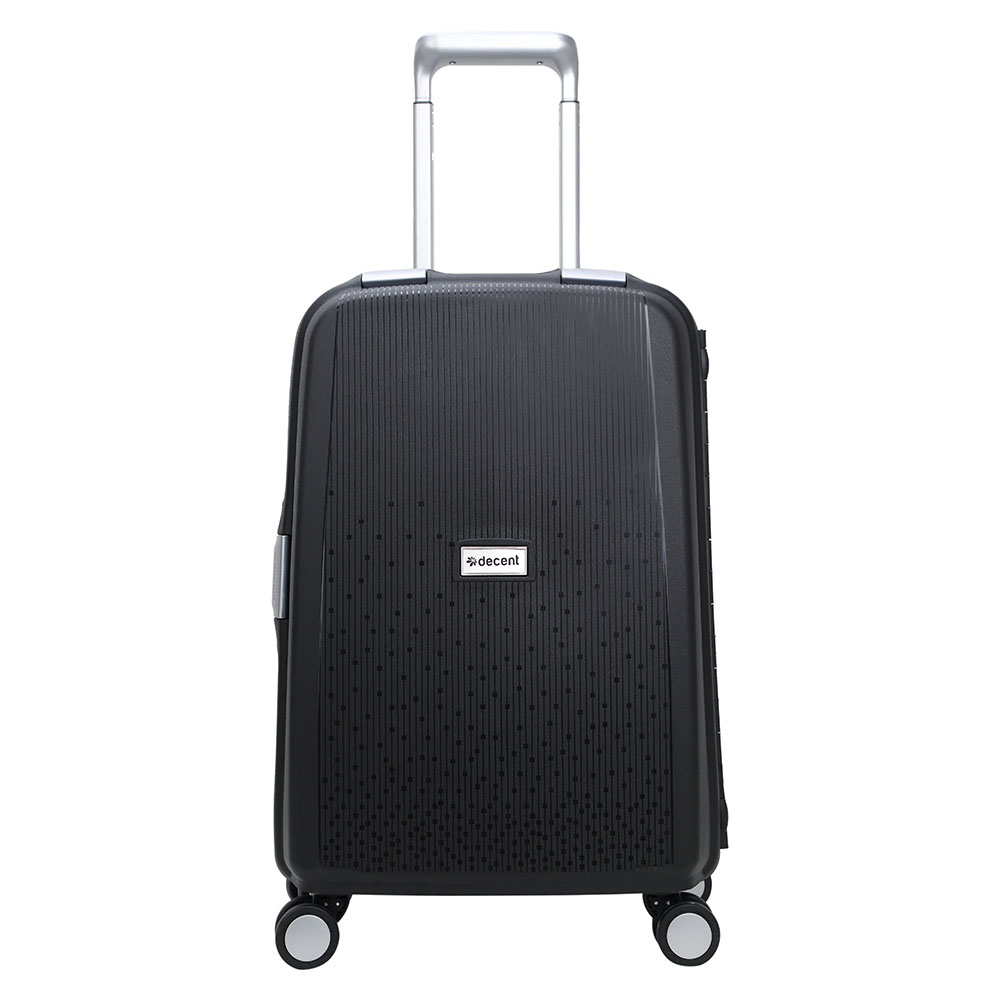 Decent Decent Sportivo One Handbagage Trolley 55 Black Harde Koffers