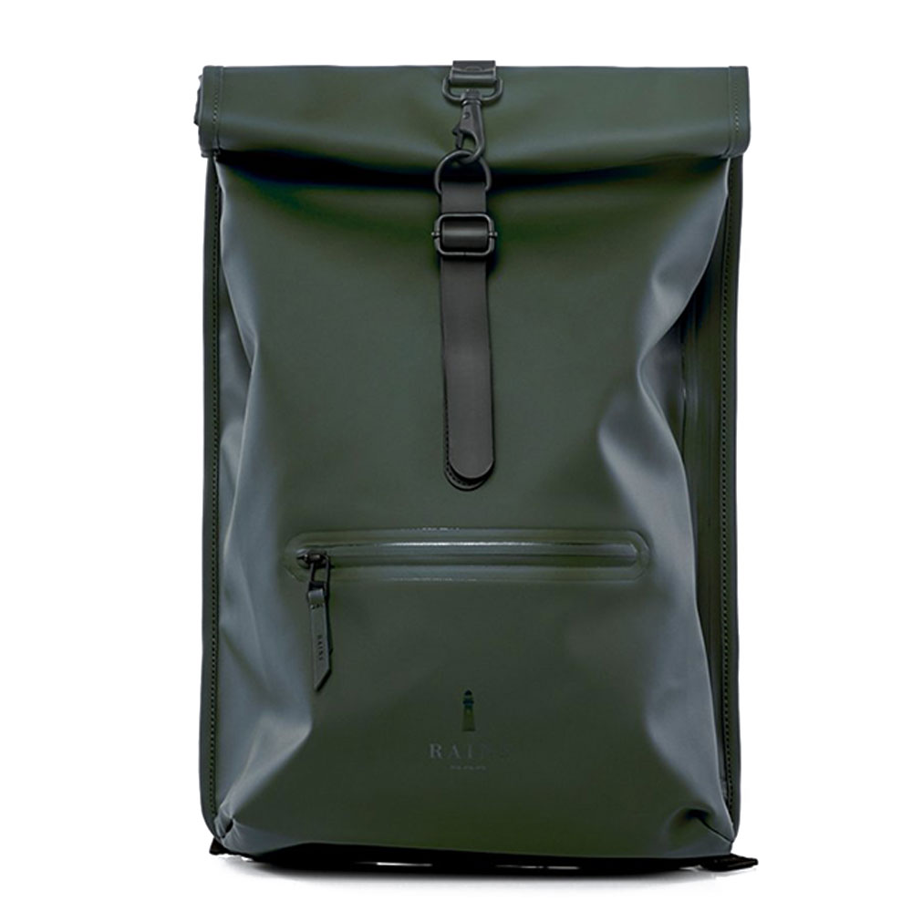 Rains Original Roll Top Rucksack Green
