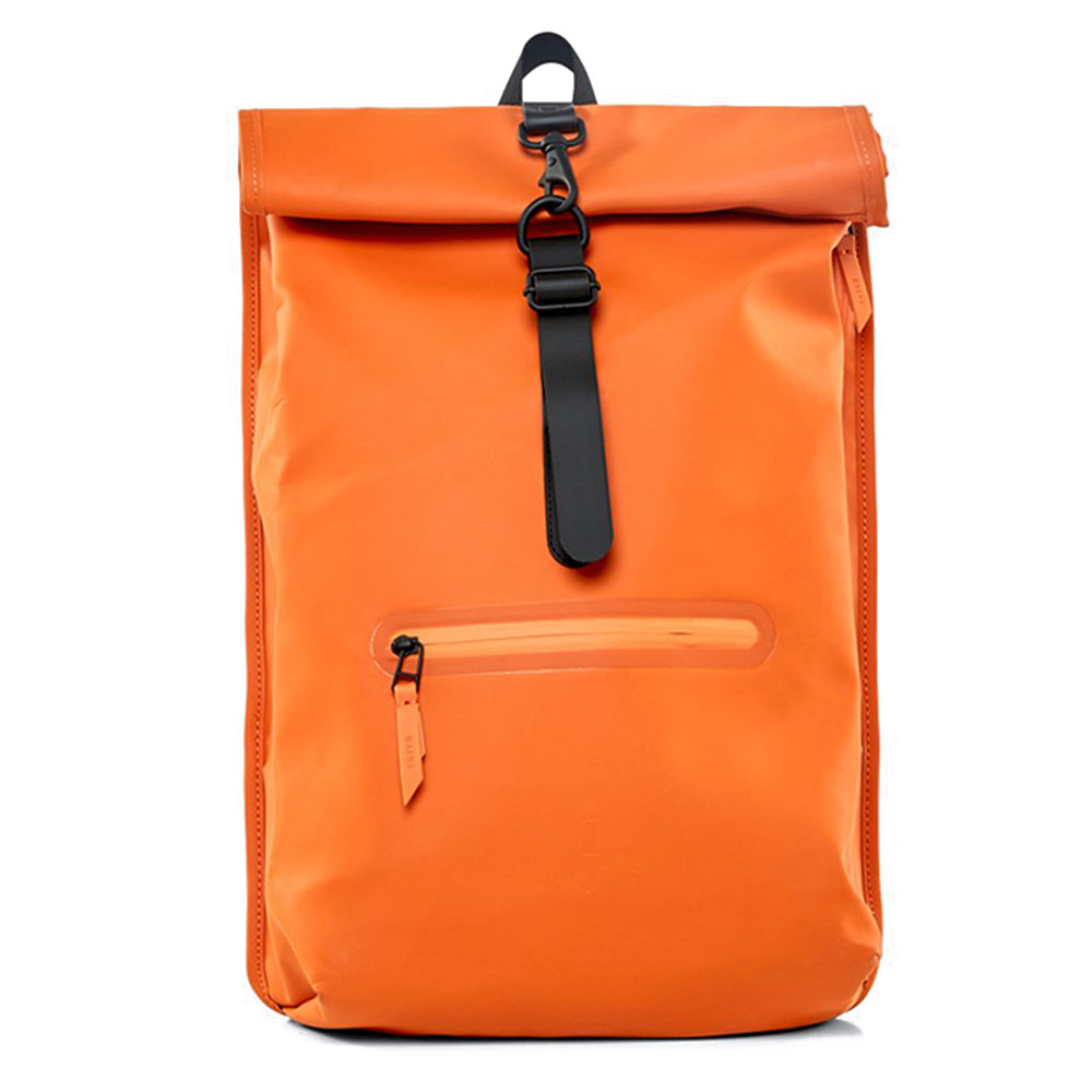 Rains Original Roll Top Rucksack Fire Orange