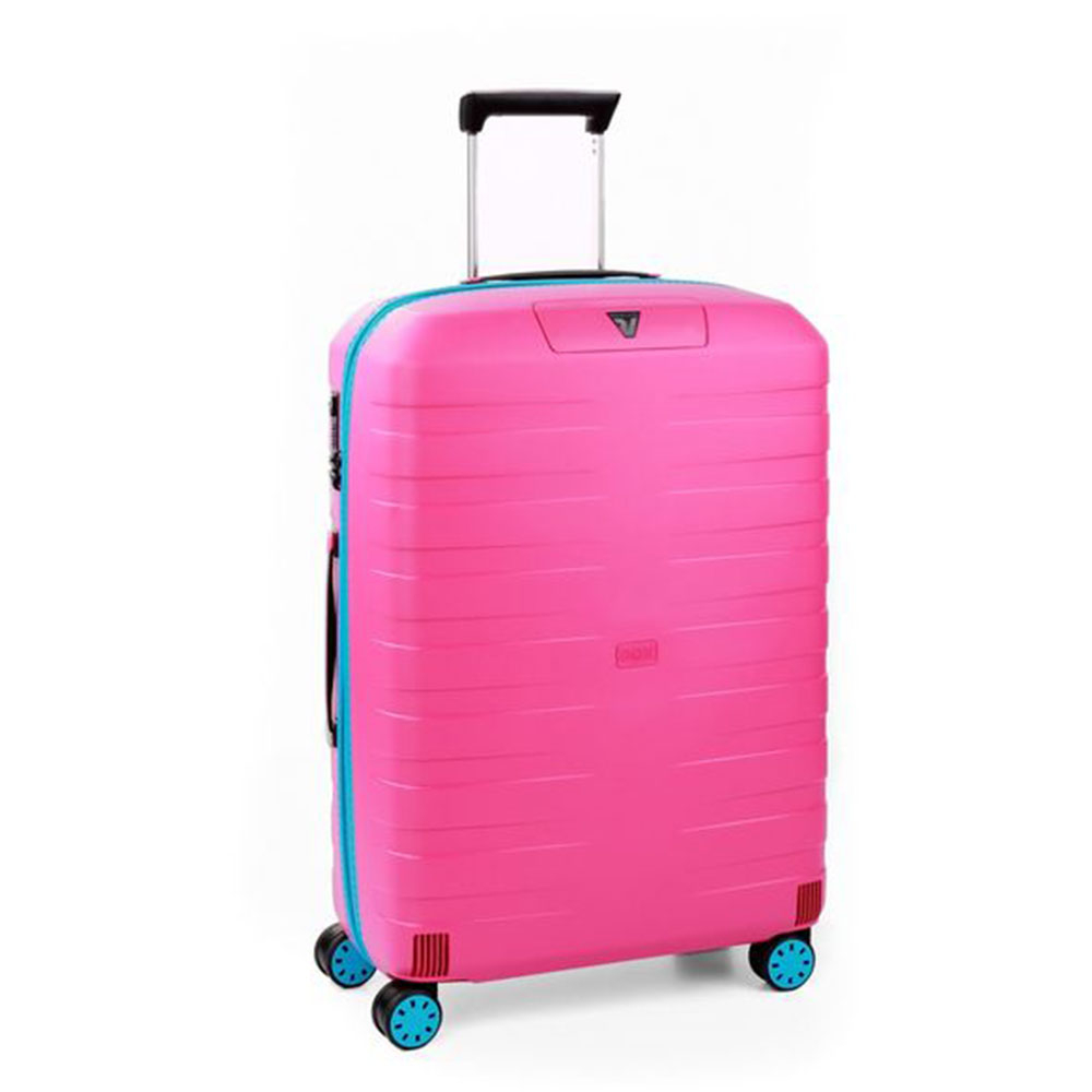 Roncato Box 2.0 Young 4 Wiel Trolley Medium 69 Pink - Light Blue