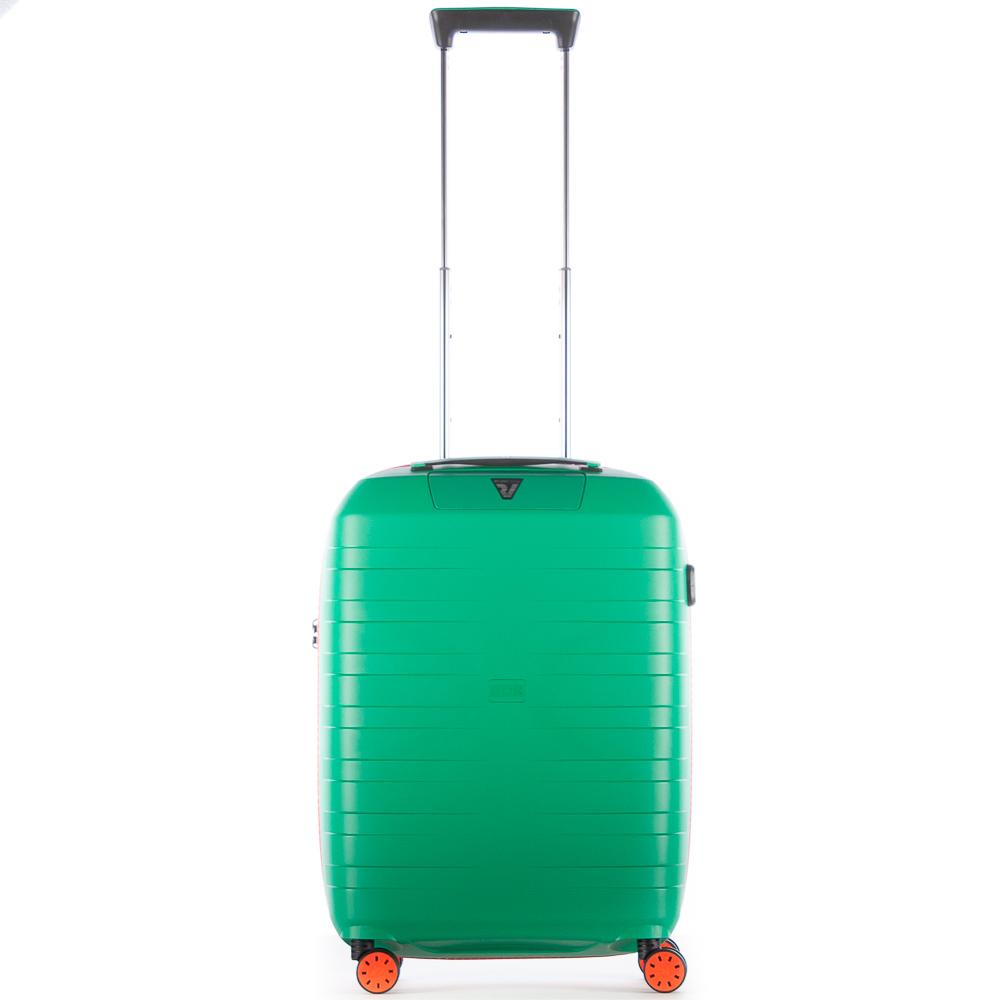 Roncato Box 2.0 Young 4 Wiel Cabin Trolley 55 Green - Orange