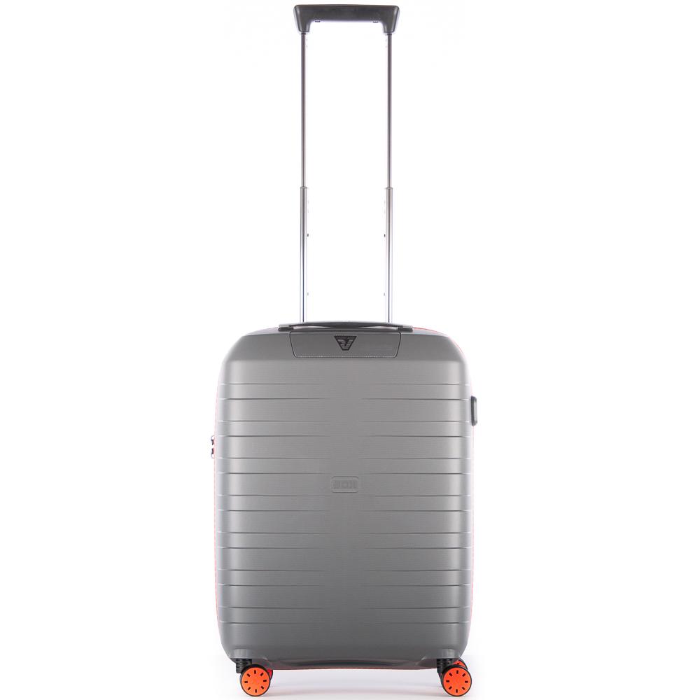 Roncato Box 2.0 Young 4 Wiel Cabin Trolley 55 Grey - Orange