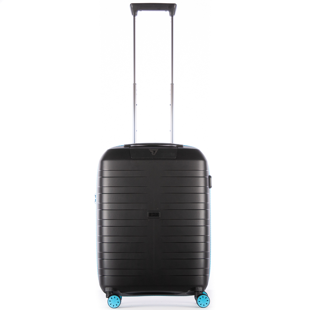 Roncato Box 2.0 Young 4 Wiel Cabin Trolley 55 Black - Light Blue