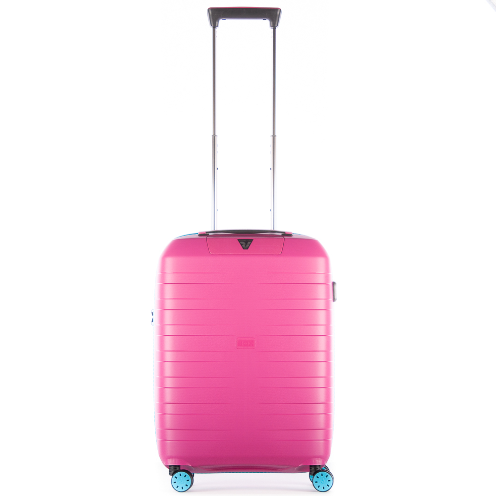 Roncato Box 2.0 Young 4 Wiel Cabin Trolley 55 Pink / Light Blue