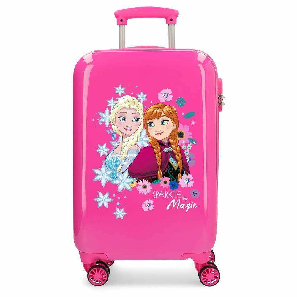 Disney Trolley 55 Cm 4 Wheels Frozen Sparkle Like Magic Pink