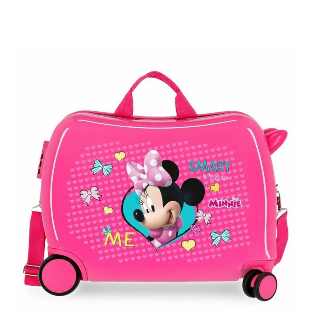 Disney Rolling Suitcase 4 Wheels Minnie Mouse Happy Helpers