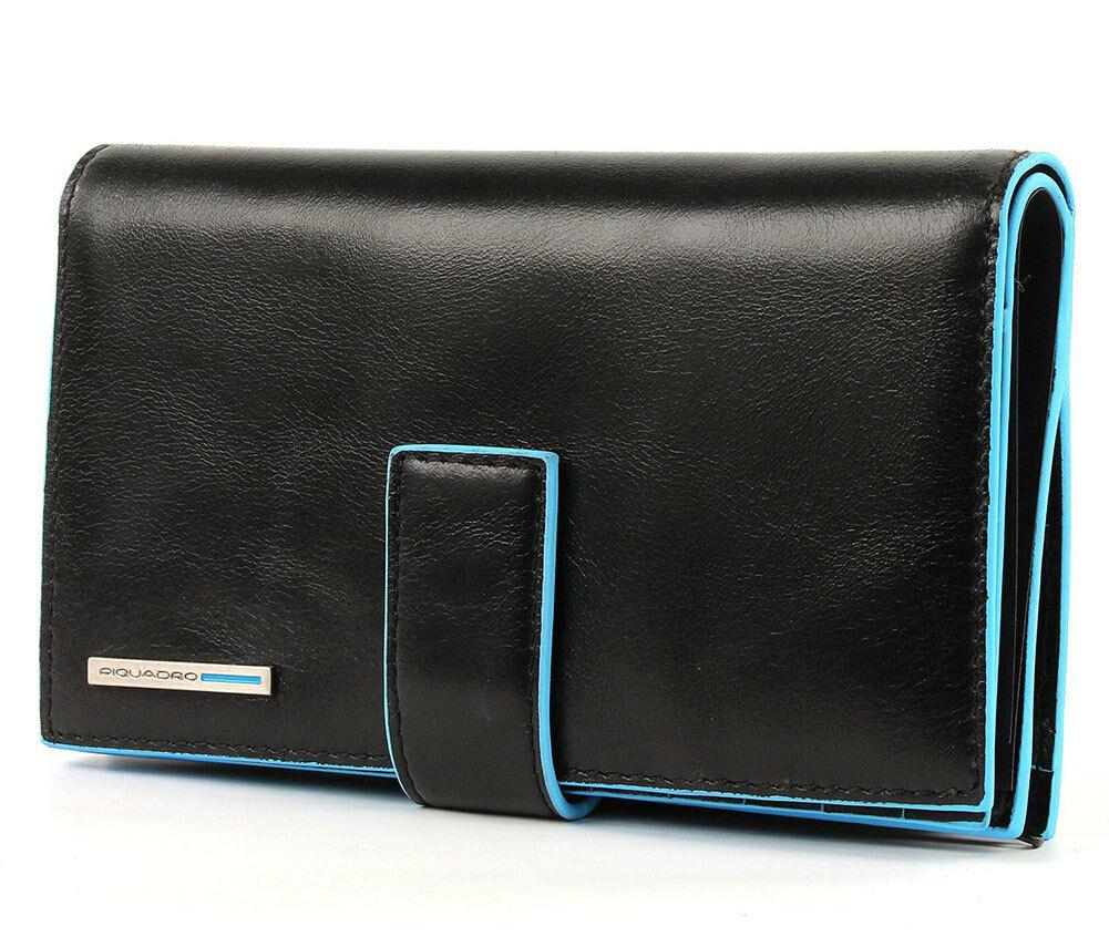 Piquadro Blue Square Women Wallet Black
