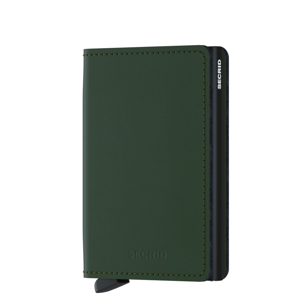 Secrid Slim Wallet Portemonnee Matte Green Black