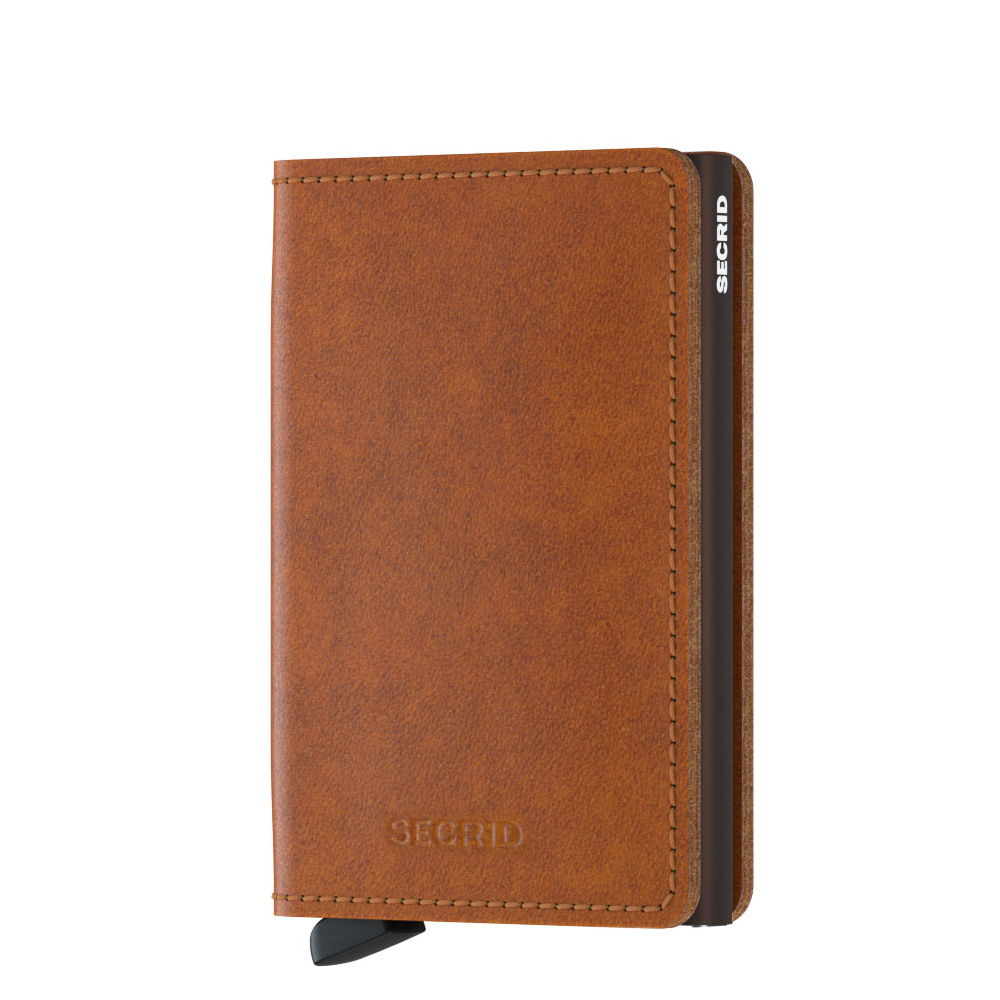 Damesportemonnees Secrid Slim Wallet Portemonnee Original Cognac Brown