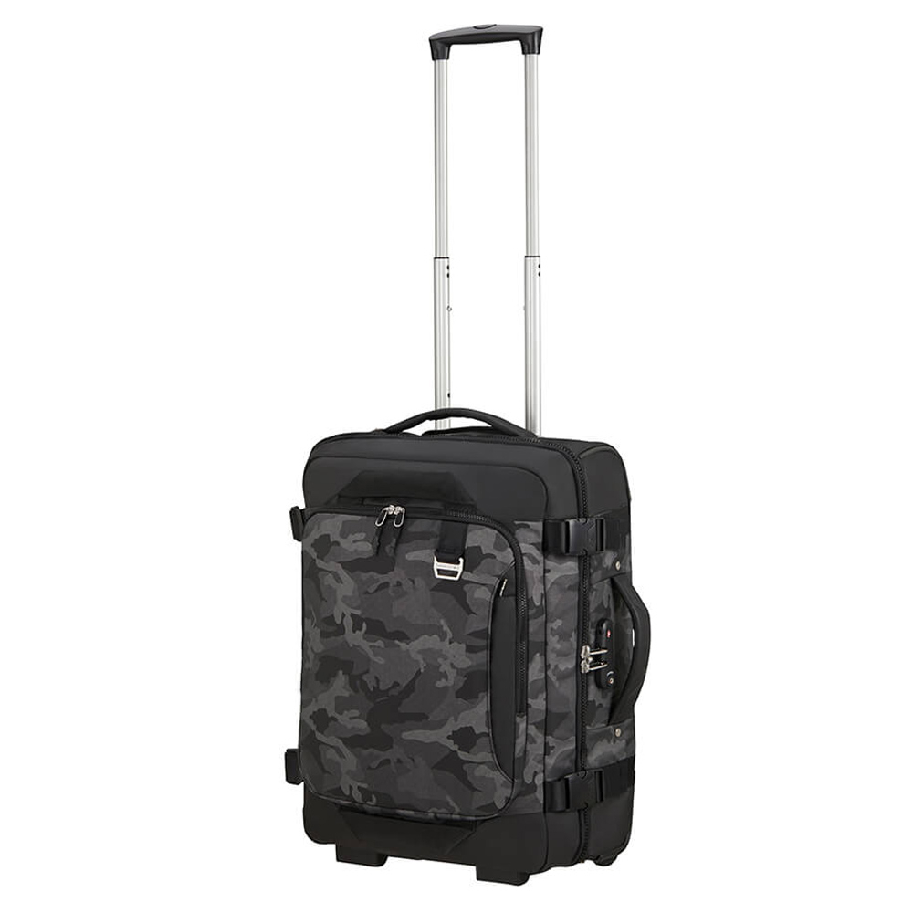 Samsonite Midtown Duffle Wheels 55 Backpack Camo Grey