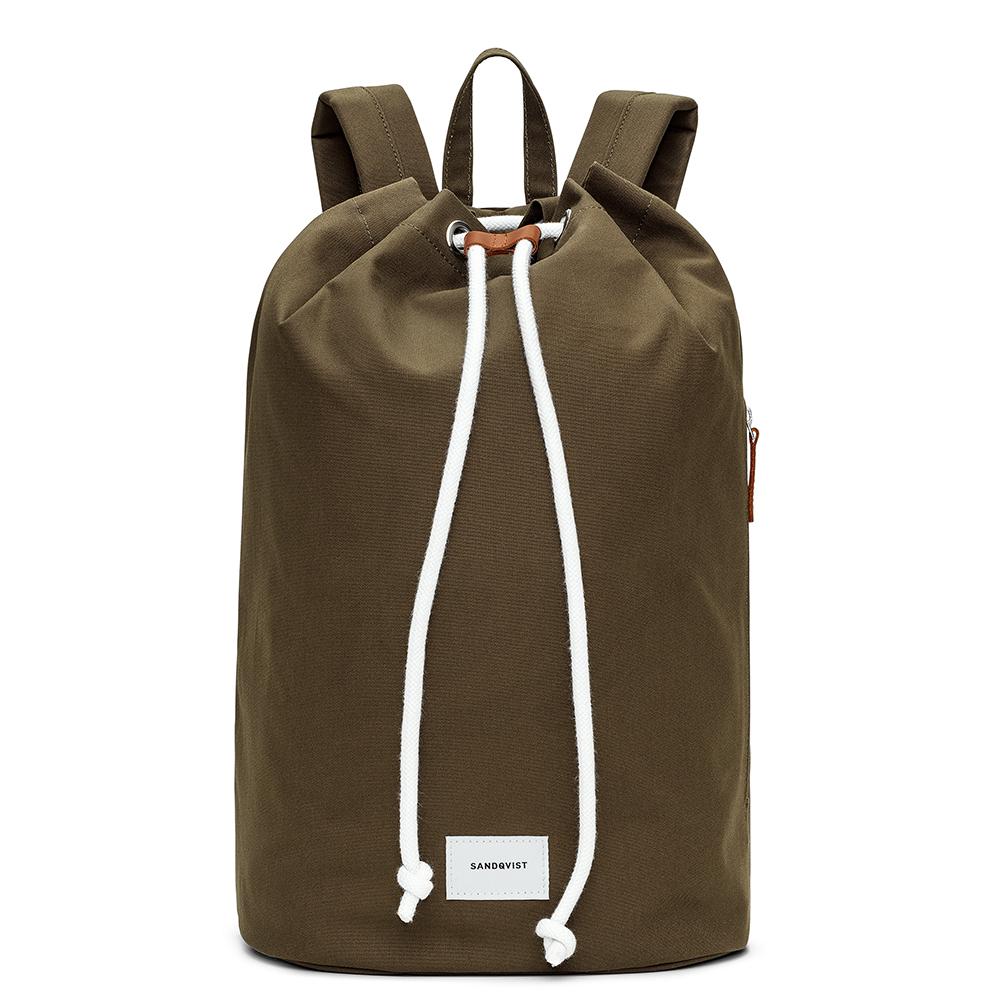 Sandqvist Evert Bucket Backpack Olive/Brown
