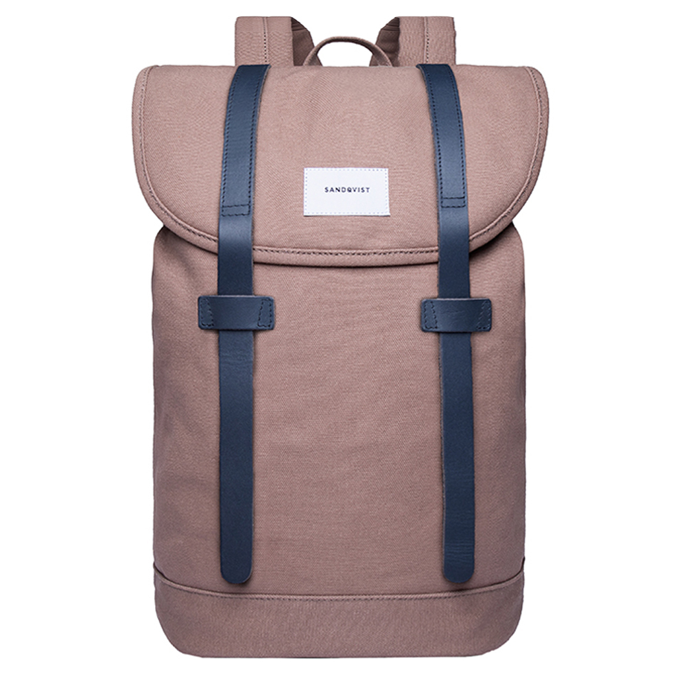 Sandqvist Stig Backpack Earth Brown/Navy Leather
