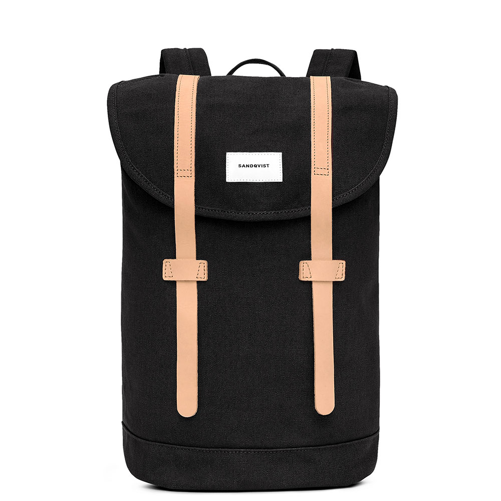 Sandqvist Stig Backpack Black/Natural