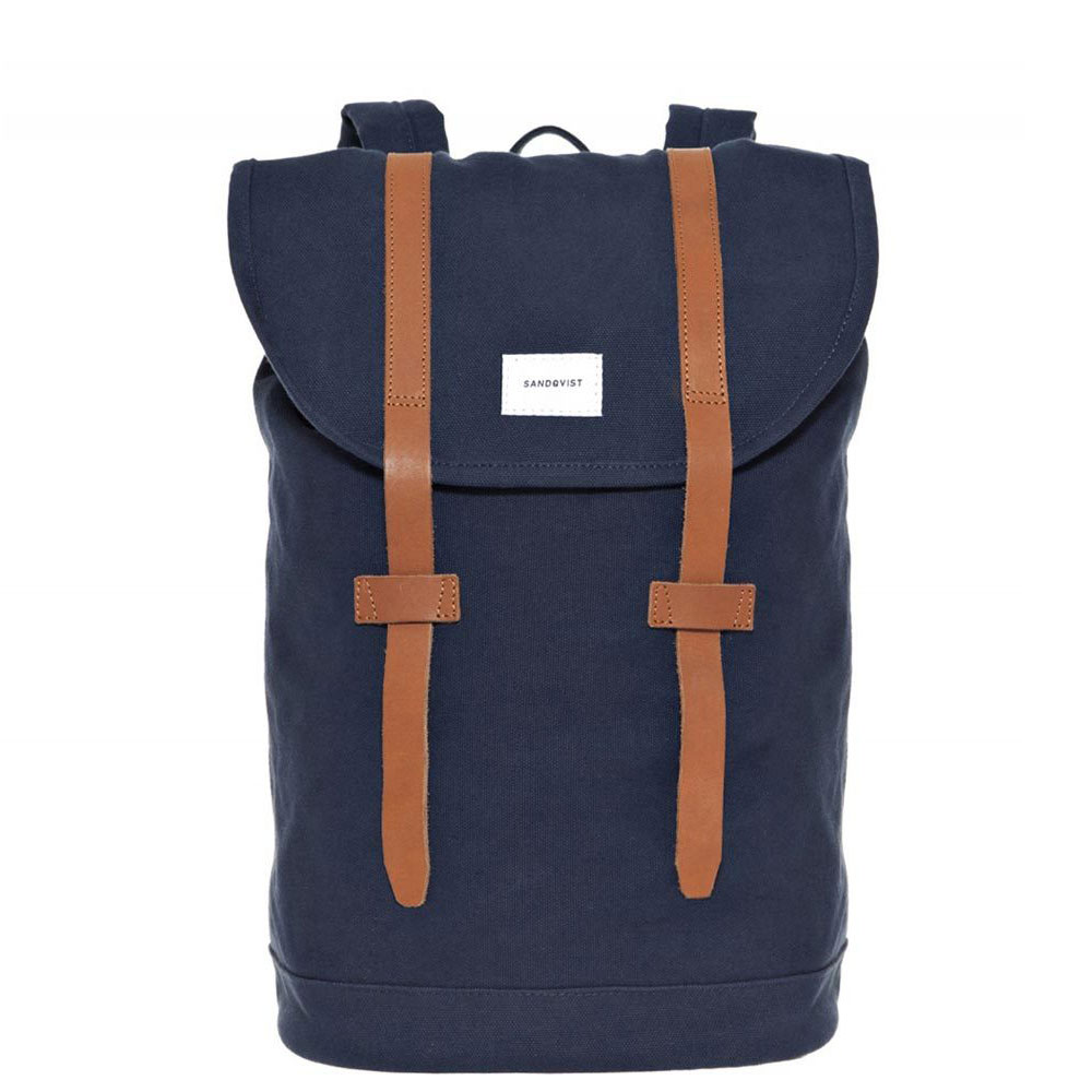 Sandqvist Stig Backpack Blue/Cognac